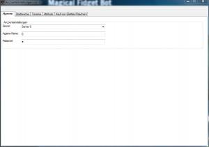 Aktueller Einstellungsbildschirm des MFBots in der Pre-Beta-Version.