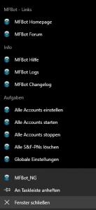 Jumplist der MFBot 4.6